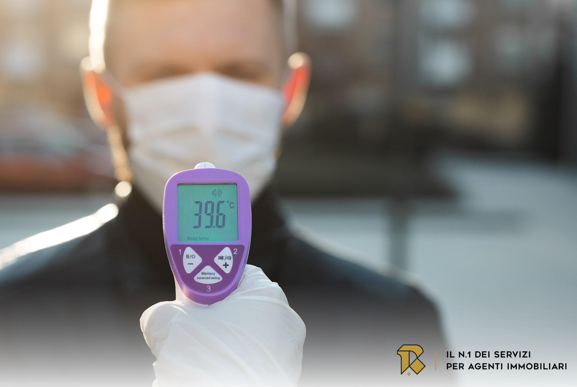 Rilevazione e registrazione temperatura corporea Agenzia Immobiliare